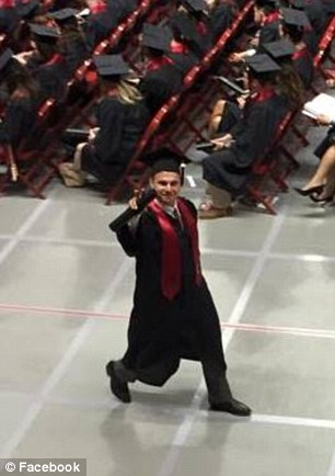 Nicole Hart took this photo of her sibling on the day of his graduation