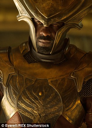 Busy: As well as starring in BBC's Luther and Marvel's Cinematic Universe as Heimdall alongside Thor, Elba is also set to appear in Star Trek Beyond next year