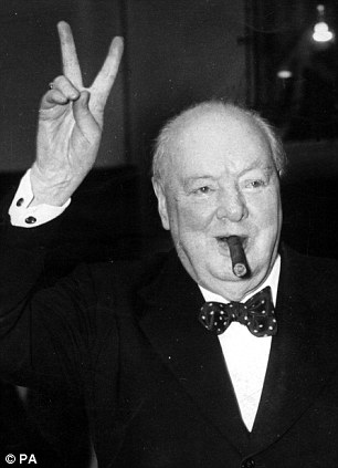 File photo from 1954 of Wartime leader Sir Winston Churchill