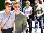Mandatory Credit: Photo by Buzz Foto/REX Shutterstock (4929907l)\n Kate Mara and Jamie Bell\n Kate Mara and Jamie Bell out and about, New York, America - 05 Aug 2015\n \n