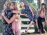 """Santa Monica, CA - Sarah Hyland and Julie Bowen getting emotional and animated while on the set on location for their show """"Modern Family"""" filming in Santa Monica.\nAKM-GSI          July 4, 2015\nTo License These Photos, Please Contact :\nSteve Ginsburg\n(310) 505-8447\n(323) 423-9397\nsteve@akmgsi.com\nsales@akmgsi.com\nor\nMaria Buda\n(917) 242-1505\nmbuda@akmgsi.com\nginsburgspalyinc@gmail.com"""