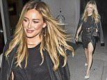 Hilary Duff wearing a black leather mini skirt and a sheer black midriff top was seen arriving at 'Craigs' Restaurant in West Hollywood, CA\n\nPictured: Hilary Duff\nRef: SPL1093435  040815  \nPicture by: SPW / Splash News\n\nSplash News and Pictures\nLos Angeles: 310-821-2666\nNew York: 212-619-2666\nLondon: 870-934-2666\nphotodesk@splashnews.com\n