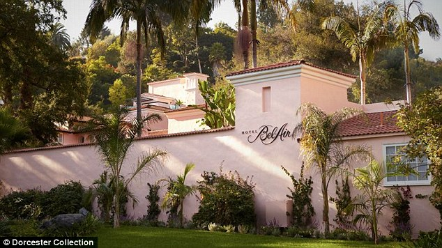 New digs: The former nanny is said to be hiding out in the posh Hotel Bel-Air in Beverly Hills. It's claimed Ben, 42,  is picking up the tab