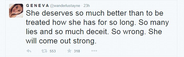 Girl power: She sent a message of support to Perrie, insisting she could do 'better