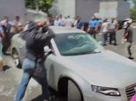 Carnage as Uber drivers are attacked at Mexico City airport  RE: the credit, the precise YouTube original source couldn?t be determined, but we know all other major news outlets have taken this footage. Should be fine.