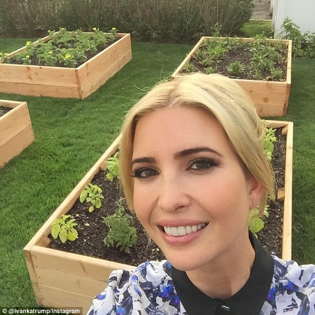 It's easy if you're green: Maria wrote that leafy greens - the darker the better - are essential for clear skin like Ivanka's