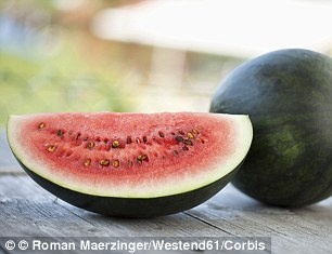 Can't be beat: Radishes and various types of melon were also picks from Maria for keeping skin clear, supple and hydrated