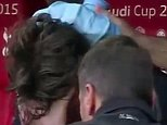 Montolivo cries after being injured during the match between  Tottenham Hotspur  and AC Milan