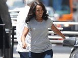 """Actress Kerry Washington is all smiles while filming scenes for her tv show """"Scandal"""" in downtown Los Angeles. Featuring: Kerry Washington Where: Los Angeles, California, United States When: 05 Aug 2015 Credit: Cousart/JFXimages/WENN.com"""