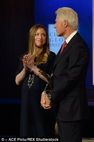 Shame? The article infers that Chelsea and her father had a tortured relationship after the Monica Lewinsky scandal