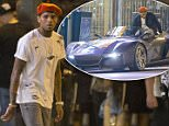 Chris Brown shows off his brand new $165,000 Rezvani Beast supercar on the set of the 'Liquor' music video in Downtown Los Angeles.\n\nPictured: Chris Brown\nRef: SPL1094892  060815  \nPicture by: Deano / Splash News\n\nSplash News and Pictures\nLos Angeles: 310-821-2666\nNew York: 212-619-2666\nLondon: 870-934-2666\nphotodesk@splashnews.com\n