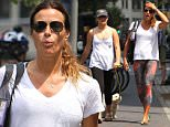 Mandatory Credit: Photo by Startraks Photo/REX Shutterstock (4930022d)\n Sea Louise Bensimon, Kelly Bensimon and dog\n Kelly Bensimon out and about, New York, America - 05 Aug 2015\n Kelly Bensimon walking her dog with daughter Sea Louise after Yoga Class\n