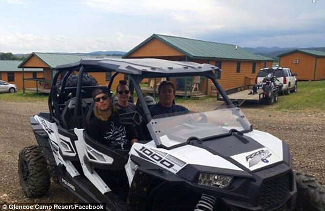 'Puddle of Mudd in the house!' Scantlin was last pictured Tuesday in South Dakota with his bandmates 'tearing it up in the RZR'