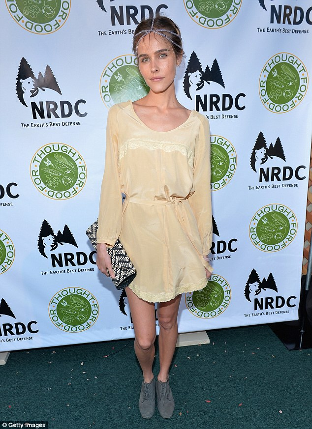 Angelic: The Melbourne-born actress is pictured at the NDRC Food For Thought Benefit night in Santa Monica in 2014