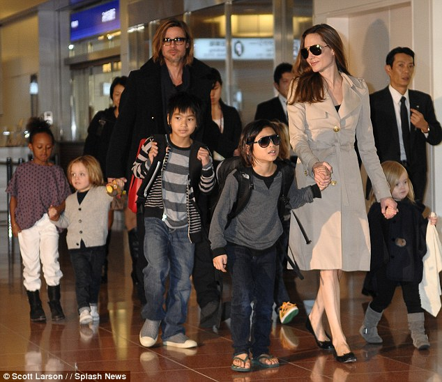 Movie star life: Angelina revealed that instead of going on a conventional honeymoon the couple jetted to Malta to film By The Sea and took their six children with them last year