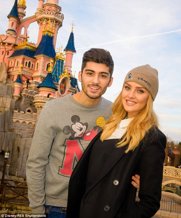 Blast from the past: The former couple, who got engaged in August 2013 after two years together, were alleged to be planning a Disneyland themed wedding because Perrie is a big fan