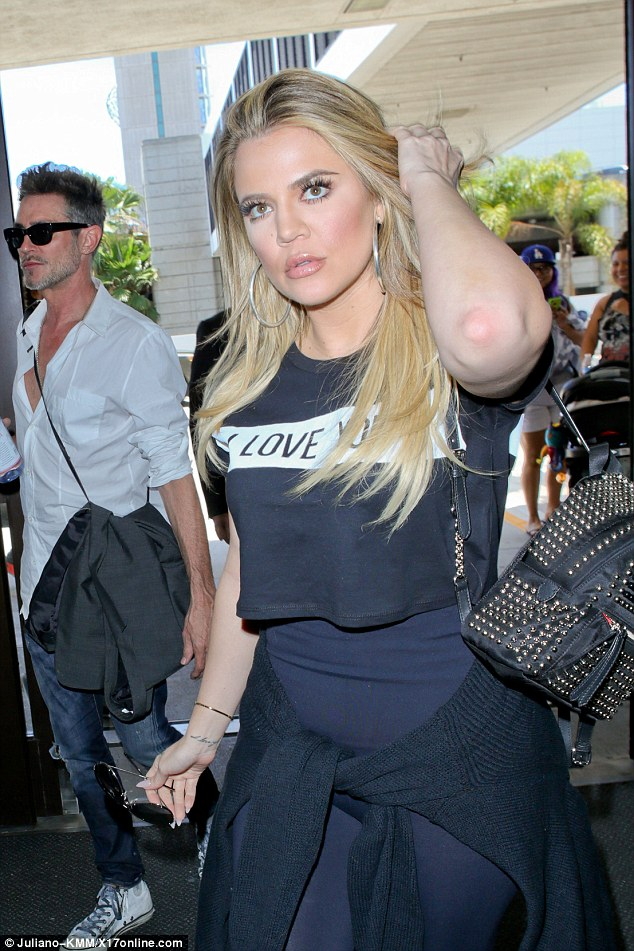 Big heart: Possibly sending a message to her fans she had 'I Love You' emblazoned her on T-shirt