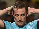 Football - FC Astra v West Ham United - UEFA Europa League Third Qualifying Round Second Leg - Stadionul Marin Anastasovici, Giurgiu, Romania - 6/8/15  West Ham's Kevin Nolan looks dejected  Mandatory Credit: Action Images / Alan Walter  Livepic  EDITORIAL USE ONLY.