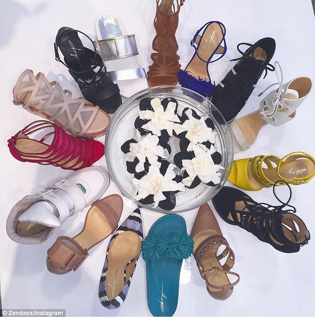 First look: Also on Wednesday, the budding designer shared a first look at her shoe line, which featured a wide array of styles