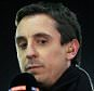 LEIGH, ENGLAND - JANUARY 26: Sky Sports pundit Gary Neville holds the microphone ahead of the Barclays U21 Premier League match between Manchester United and Liverpool at Leigh Sports Village on January 26, 2015 in Leigh, England. (Photo by Simon Stacpoole/Mark Leech Sports Photography/Getty Images)