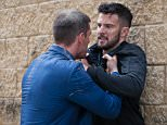 EMMERDALE\n\nSTRICT EMBARGO until 20.30 Thursday 6 August 2015\nPete (Anthony Quinlan) and Ross (Michael Parr) fighting over Debbie at the hospital.\nAs Debbie's life hangs in the balance Pete and Ross fight. Pete is in a fury with his brother Ross for having an affair with Debbie. Pete takes it too far as he beats his brother to a pulp.\n\nSisters Val Pollard (Charlie Hardwick) and Diane Sugden (Elizabeth Estensen) are trapped in the mirror maze after the explosion.\nDiane is rescued whilst Val Pollard is killed by a falling piece of mirror. \n\nPictured Pete (ANTHONY QUINLAN] and Ross [MICHAEL PARR] \nPicture contact: david.crook@itv.com on 0161 952 6214\n\nThis photograph is (C) ITV Plc and can only be reproduced for editorial purposes directly in connection with the programme or event mentioned above, or ITV plc. Once made available by ITV plc Picture Desk, this photograph can be reproduced once only up until the transmission [TX] date and no reproduction fee will be charged.