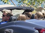 EXCLUSIVE: Gordon Ramsay takes his daughter and some friends for a spin in his Ferrari.  The celebrity chef was spotted having lunch with his family at 'Malibu Farm' on Malibu pier, before driving off in the sports car. The British star wore a blue 'USA' t shirt and white shorts to the lunch date.   Pictured: Gordon Ramsay Ref: SPL1095567  050815   EXCLUSIVE Picture by: Splash News  Splash News and Pictures Los Angeles: 310-821-2666 New York: 212-619-2666 London: 870-934-2666 photodesk@splashnews.com