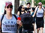 Sarah Silverman is seen walking with baby in Soho \n\nPictured: Sarah Silverman\nRef: SPL1095823  060815  \nPicture by: @JDH Imagez / Splash News\n\nSplash News and Pictures\nLos Angeles: 310-821-2666\nNew York: 212-619-2666\nLondon: 870-934-2666\nphotodesk@splashnews.com\n