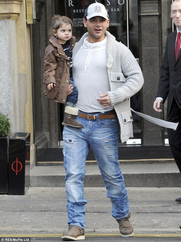 Doting dad: The actor is a father to four-year-old Scarlett, his daughter with Corrie co-star Tina O'Brien, who he met when she played his on-screen lover Sarah-Louise Platt