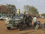 epa03555433 Malian forces patrol through the northern town of Sevare, Mali 25 January 2013. French forces continue their advance northwards in Mali with over 2,000 troops assisting Malian forces fight islamic militants linked to al-Qaeda in the Islamic Maghreb.  EPA/STR