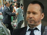 """NEW YORK, NY - AUGUST 06:  Actor/singer Donnie Wahlberg on the set of """"Blue Bloods"""" on August 6, 2015 in New York City.  (Photo by Bobby Bank/GC Images)"""