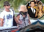 PREMIUM RATES APPLY\nAugust 7, 2015: Newlyweds Jennifer Aniston and Justin Theroux arrive in Bora Bora for a romantic honeymoon following their super-secret wedding at the home they share in Bel Air.\nMandatory Credit: INFphoto.com\nRef: inf-00