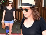 Picture Shows: Cobie Smulders  August 07, 2015\\n \\n Injured actress Cobie Smulders stops by a doctors office for a check up in Beverly Hills, California. In July Cobie discovered that she broke her leg but was unsure of how it happened. She says the leg is getting better everyday and is looking forward to getting back to work. \\n \\n Non Exclusive\\n UK RIGHTS ONLY\\n \\n Pictures by : FameFlynet UK © 2015\\n Tel : +44 (0)20 3551 5049\\n Email : info@fameflynet.uk.com