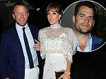 Newlywed Guy Ritchie and wife Jacqui Ainsley seen leaving Scott's this evening after having dinner with Henry Cavill.   Pictured: Guy Ritchie, Jaqui Ainsley, Henry Cavill Ref: SPL1094931  070815   Picture by: TGB / Splash News  Splash News and Pictures Los Angeles: 310-821-2666 New York: 212-619-2666 London: 870-934-2666 photodesk@splashnews.com
