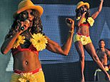 sinitta perforns at the 80S V 90S night at the lytham festival, lytham st annes  Pictured: Sinitta Ref: SPL1093634  070815   Picture by: DFL  / Splash News  Splash News and Pictures Los Angeles: 310-821-2666 New York: 212-619-2666 London: 870-934-2666 photodesk@splashnews.com
