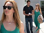 Happy couple John Krasinski and Emily Blunt got out for an afternoon matinee, leaving daughter Hazel with a sitter, on Friday, August 7, 2015  X17online.com