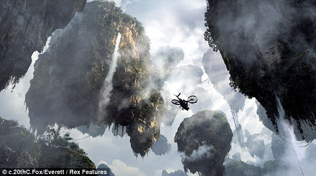 And from the film: The Hollywood rendering of the mountains in James Cameron's blockbuster film Avatar