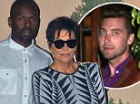 Kris Jenner, Corey Gamble double date with Lance Bass and his husband at Mastros in Thousand Oaks where they stayed for almost two hours. August 8, 2015  X17online.com