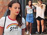 7 Aug 2015  - LONDON  - UK *** EXCLUSIVE ALL ROUND PICTURES *** MADE IN CHELSEA STARS LUCY WATSON, ROSIE FORTESCUE, LOUISE THOMPSON AND BINKY FELSTEAD OUTSIDE NATASHA COOTE IN CHELSEA WAITING FOR FILMING TO BEGIN BYLINE MUST READ : XPOSUREPHOTOS.COM ***UK CLIENTS - PICTURES CONTAINING CHILDREN PLEASE PIXELATE FACE PRIOR TO PUBLICATION *** **UK CLIENTS MUST CALL PRIOR TO TV OR ONLINE USAGE PLEASE TELEPHONE  442083442007