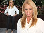 "Celebrities attend the Premiere Of The Asylum's ""Sharknado 3: Oh Hell No!"" at iPic Theaters in Westwood....Pictured: Kim Richards..Ref: SPL1085671  220715  ..Picture by: @gotpaptv / Splash News....Splash News and Pictures..Los Angeles: 310-821-2666..New York: 212-619-2666..London: 870-934-2666..photodesk@splashnews.com.."