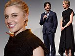 "LOS ANGELES, CA - AUGUST 07:  (L-R) Writer/director Noah Baumbach, actresses Greta Gerwig and Lola Kirke speak onstage at the ""Mistress America"" Los Angeles premiere during the Sundance NEXT FEST at The Theatre at Ace Hotel on August 7, 2015 in Los Angeles, California.  (Photo by Alberto E. Rodriguez/Getty Images for Sundance)"