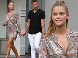 141008, Nina Agdal and boyfriend Reid Heidenry take a romantic stroll around the SoHo Neighborhood in NYC. New York, New York - Saturday August 8, 2015. Photograph: LGjr-RG, © PacificCoastNews. Los Angeles Office: +1 310.822.0419 sales@pacificcoastnews.com FEE MUST BE AGREED PRIOR TO USAGE