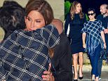 August 7, 2015: Caitlyn Jenner and Kris Jenner hug it out outside Nobu restaurant in Los Angeles, California as their family gather to celebrate daughter Kylie Jenner's 18th birthday.\nPictured here: Caitlyn Jenner, Kris Jenner\nMandatory Credit: INFphoto.com\nRef: infusla-309