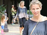 Elsa Pataky, showing off tight body,  spends time with eldest daughter India wearing flip flops and she's showing a foot tattoo in Malibu
