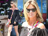 7 August 2015.\nRachel Hunter, a Rod Stewart ex, shopping for groceries at Bristol Farms in Hollywood.\nCredit: GoffPhotos.com   Ref: KGC-173\n