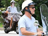 Picture Shows: Tom Hanks  August 07, 2015\n \n 'Bridge of Spies' star Tom Hanks rides his Vespa scooter around town in Santa Monica, California.\n \n Last night Tom was among many celebrities gathered at Scooter Braun's house to raise money for Hilary Clinton's presidential campaign.\n \n Exclusive All Rounder\n UK RIGHTS ONLY\n Pictures by : FameFlynet UK © 2015\n Tel : +44 (0)20 3551 5049\n Email : info@fameflynet.uk.com