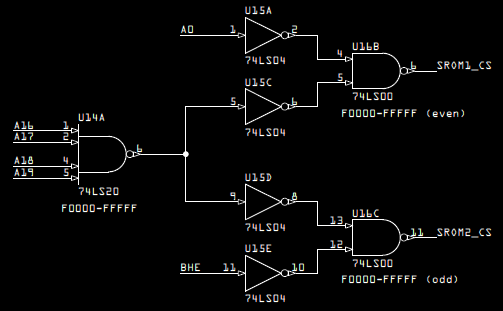 Breadboard Memory Address Decoding Logic
