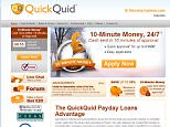 The Website for the Loan company QuickQuid