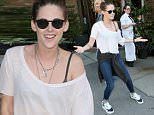 ***MANDATORY BYLINE TO READ INFPhoto.com ONLY***\nKristen Stewart is all smiles as she leaves her hotel and heads for dinner in New York City.\n\nPictured: Kristen Stewart\nRef: SPL1098537  090815  \nPicture by: T.Jackson/INFphoto.com\n\n
