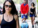 EXCLUSIVE: Jordana Brewster takes the whole family out including the dog for a walk. The family pushed their son around Brentwood climbing hilly streets and keeping a brisk pace.\n\nPictured: Jordana Brewster\nRef: SPL1098487  090815   EXCLUSIVE\nPicture by: Splash News\n\nSplash News and Pictures\nLos Angeles: 310-821-2666\nNew York: 212-619-2666\nLondon: 870-934-2666\nphotodesk@splashnews.com\n
