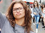9 Aug 2015  - LONDON  - UK *** EXCLUSIVE ALL ROUND PICTURES *** AMERICAN POP STAR ZENDAYA LETS HER FANS TAKE HER ON A TOUR OF CENTRAL LONDON! KNOWN FOR HER SONG 'REPLAY', SHE STOPPED TO TAKE A PICTURES OUTSIDE A SHOP WITH THE SAME NAME. ZENDAYA HAS RECENTLY BEEN LINKED WITH THE NEWLY SINGLE ZAYN MALIK WHO SPLIT UP WITH HIS FIANCE PERRIE EDWARDS ONLY LAST WEEK. BYLINE MUST READ : XPOSUREPHOTOS.COM ***UK CLIENTS - PICTURES CONTAINING CHILDREN PLEASE PIXELATE FACE PRIOR TO PUBLICATION *** **UK CLIENTS MUST CALL PRIOR TO TV OR ONLINE USAGE PLEASE TELEPHONE  442083442007
